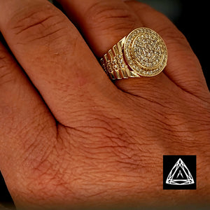 10kt Round Yellow Gold Ring
