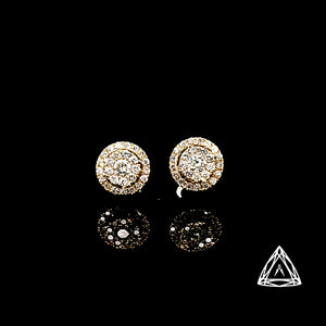 10kt Yellow Gold & Diamond Stud Earrings