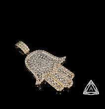 Load image into Gallery viewer, 10kt Yellow large Diamond Hamza Pendant
