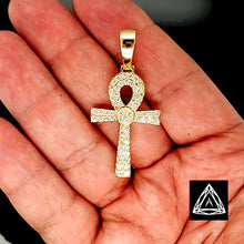 Load image into Gallery viewer, 10kt Yellow Gold Diamond  Anch Cross