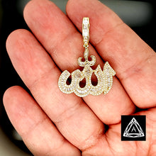 Load image into Gallery viewer, 10kt Yellow Gold Allah Diamond Pendant