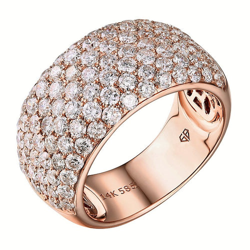 Pavé Diamond Dome Anniversary Ring