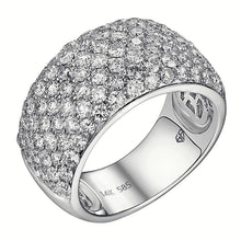 Load image into Gallery viewer, Pavé Diamond Dome Anniversary Ring