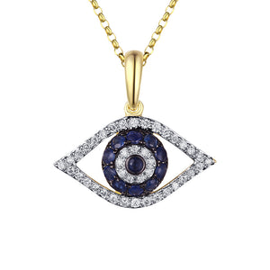 Diamond Blue Evil Eye Necklace