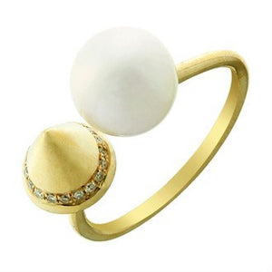 Diamond Freshwater Pearl Ring