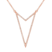 Load image into Gallery viewer, Diamond Double Layered Necklace