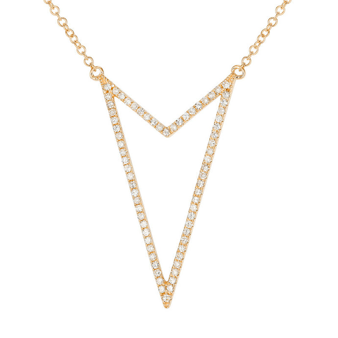 Diamond Double Layered Necklace
