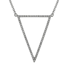 Load image into Gallery viewer, Diamond Triangle Down Necklace