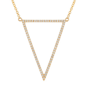 Diamond Triangle Down Necklace