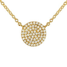 Load image into Gallery viewer, Diamond Pavé Button Necklace