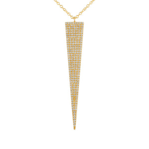 Diamond Drop-down Arrow Pavé Necklace