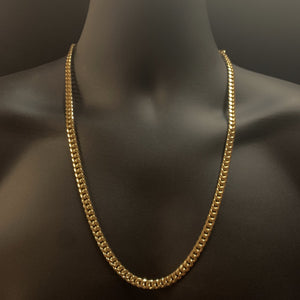 10kt Yellow Gold Miami Cuban Link Chain 6,5mm 26 Inches