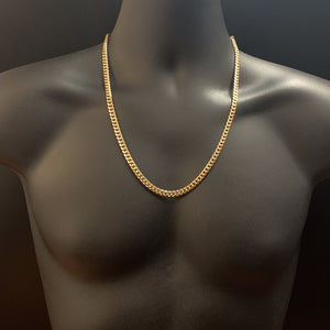 10kt Yellow Gold Miami Cuban Link Chain 6mm 24 Inches