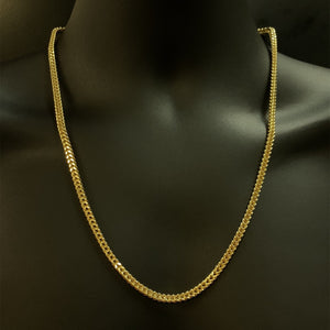 10kt Yellow Gold Franco Link Chain 4 mm 24 Inches