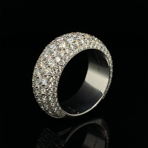 14K Signature Collection White Gold Band 3.70ct VVS Diamonds