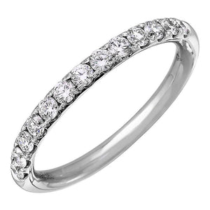 Diamond Tiger Prong Semi-Eternity Ring