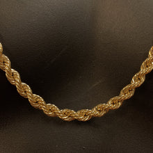 Load image into Gallery viewer, 10kt Yellow Gold Rope Link Chain 5.5 mm 30 Inches