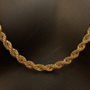 10kt Yellow Gold Rope Link Chain 5.5 mm 30 Inches