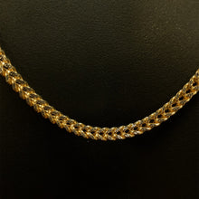 Load image into Gallery viewer, 10kt Yellow Gold Diamond Cut Franco Link Chain 3.5 mm 26 Inches
