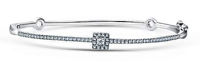 Diamond Square Halo Bangle