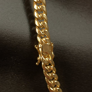 10kt Yellow Gold Miami Cuban Link Chain 6,5mm 28 Inches