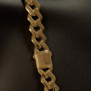 10kt Yellow Gold Monaco Miami Cuban Link Chain 13mm 29 Inches