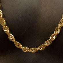 Load image into Gallery viewer, 10kt Yellow Gold Rope Link Chain 7 mm 30 Inches