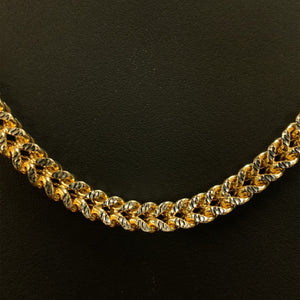 10kt Yellow Gold Diamond Cut Franco Link Chain 6 mm 24 Inches