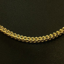 Load image into Gallery viewer, 10kt Yellow Gold Franco Link Chain 3 mm 24 Inches