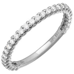 Diamond Shared Prong 3/4 Eternity Ring