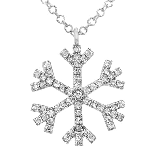 Diamond Snowflake Necklace