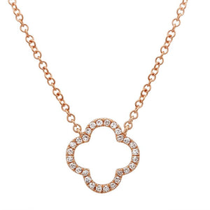 Diamond Clover Ajouré Necklace