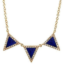 Load image into Gallery viewer, Lapis Lazuli Diamond Necklace