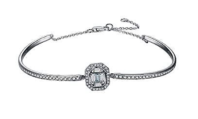 Diamond Octa Halo Shadow Bangle