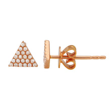 Load image into Gallery viewer, Diamond Triangle Pavé Stud Earrings