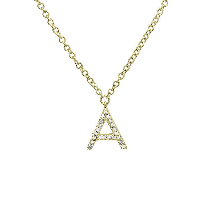 Diamond Mini Initial Necklace