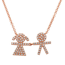 Load image into Gallery viewer, Diamond Boy & Girl Necklace