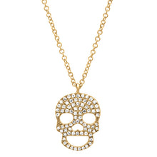 Load image into Gallery viewer, Diamond Skull Necklace
