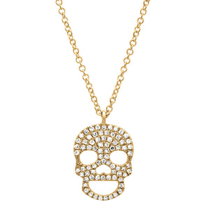 Diamond Skull Necklace