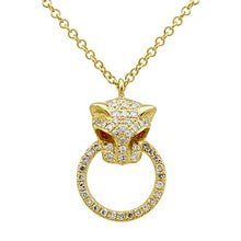 Load image into Gallery viewer, Diamond & Ruby Feline Panther Necklace
