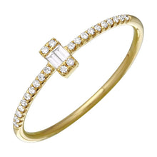 Load image into Gallery viewer, Diamonds Double Baguette Ring