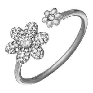 Double Floral Diamond Ring