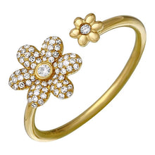 Load image into Gallery viewer, Double Floral Diamond Ring