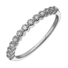 Load image into Gallery viewer, Diamond Flower Pattern Semi Eternity Ring