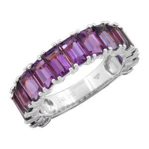 Amethyst Emerald Cut 3/4 Eternity & Full Eternity Ring