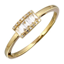 Load image into Gallery viewer, Diamonds Channel Set Baguette-cut Ring