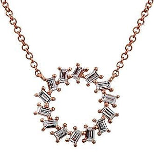 Diamond Shining Wheel Necklace