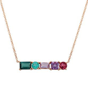 Rainbow Short Bar Necklace