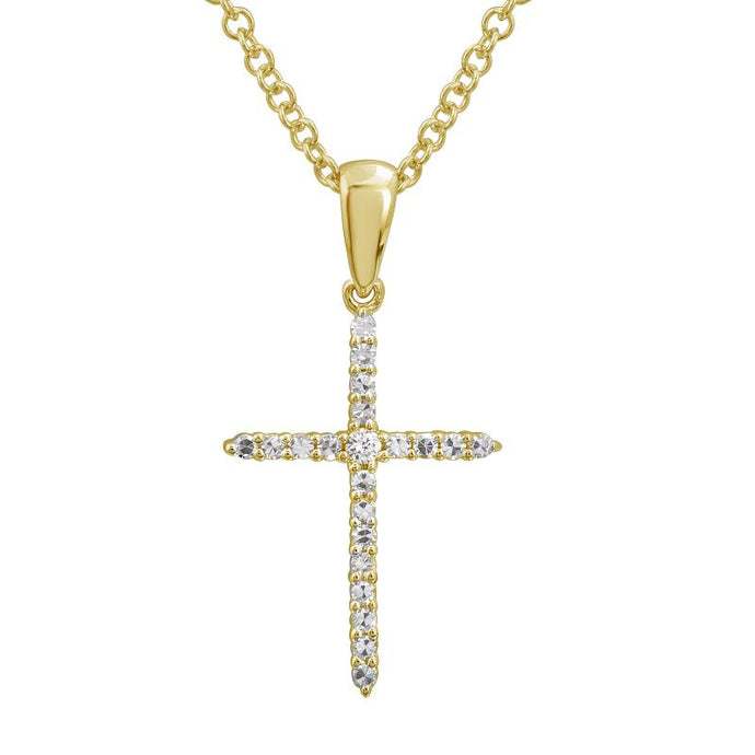 Diamond Thin Cross Necklace