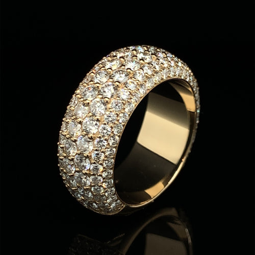 14K Signature Collection Yellow Gold Band 3.70ct VVS Diamonds